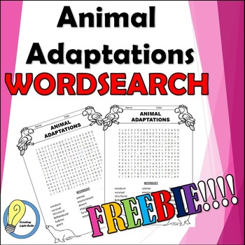 Animal Adaptations Word Search