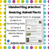 Amazing Animal Facts - Fun handwriting practice - Foundati