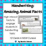 Amazing Animal Facts - Fun handwriting practice - NSW Cursive