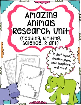 Animal Report Research Project for Writing Workshop