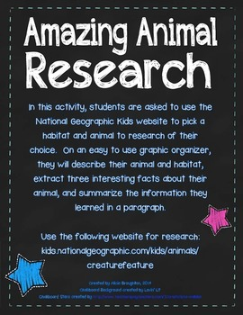 Amazing Animal Research - Science and Writing!