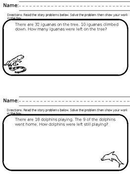 Amazing Animal Word Problems