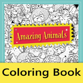 Amazing Animals Coloring Book – 12 pages of mindfulness coloring