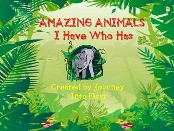 Amazing Animals I Have Who Has (Unit 5)