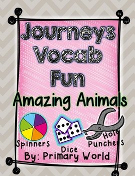 Amazing Animals, Journeys 1st Grade Unit 5 Lesson 22 Vocabulary