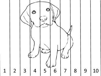 Amazing Animals Number Puzzles