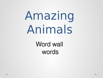 Amazing Animals PowerPoint