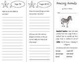 Amazing Animals Trifold - Open Court 3rd Gr Unit 4 Lesson 4