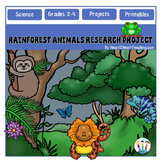 Animals of the Rainforest Research Project & Rubric
