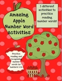 Amazing Apple Number Word Activities