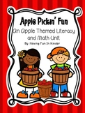 Apple Pickin' Fun - An Apple Themed Literacy and Math Unit