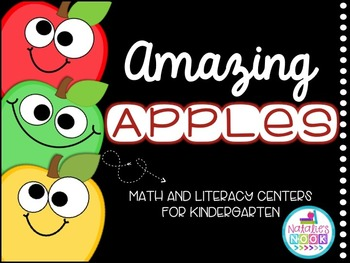 Amazing Apples {Math and Literacy Centers for Kindergarten}