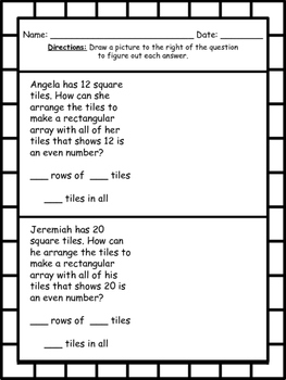 Amazing Arrays - array and repeated addition activities with exit tickets