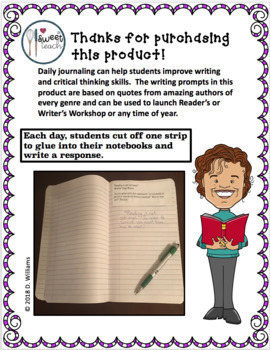 Amazing Authors Journal Prompts: Inspirational Quotes