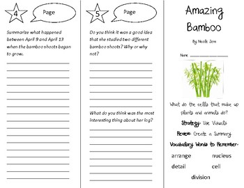 Amazing Bamboo Trifold - 5th Grade Literacy by Design Theme 15