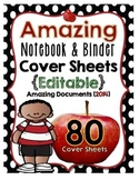 Amazing Binder Notebook Cover Sheets