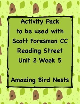 Amazing Bird Nests, Activity Pack for Reading Street CC Unit 2 Week 5