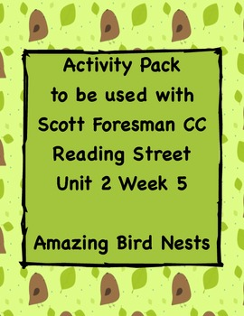 Amazing Bird Nests, Activity Pack for Reading Street CC Un