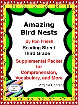 Amazing Bird Nests---Supplemental Packet--Third Grade Reading Street