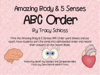 Amazing Body & 5 Senses ABC Order