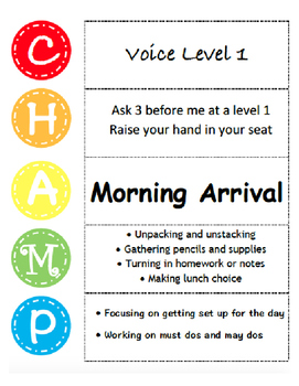 Amazing CHAMPs Posters (Classroom Management Posters)