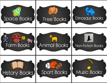 Amazing Chalkboard Class Library Labels