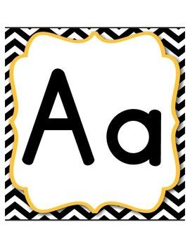 Amazing Chevron - Alphabet Headers & Numbers