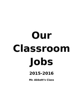 Class Job Time - A diverse, rich, cross curricular learning opportunity