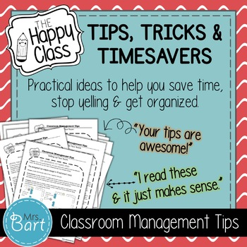Amazing Classroom Management Tips- Part 2!