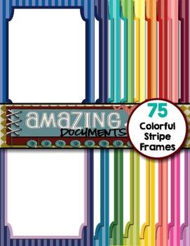 Amazing Colorful Stripe Frames