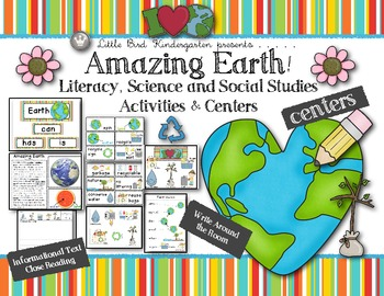 Amazing Earth! Literacy, Science & Social Studies Activities & Centers