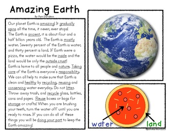 Earth Day Activities: Amazing Earth! Literacy, Science & Social Studies