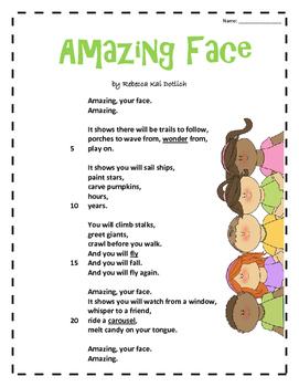 Amazing Face- Poetry Quiz