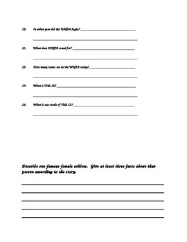 Amazing Female Athletes Leveled Reader Comprehension Questions