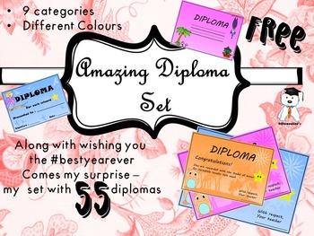Amazing Freebie - 55 Free Reward Diplomas