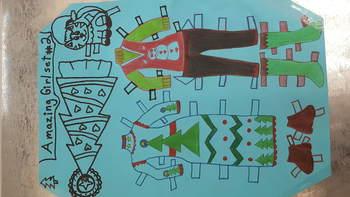 Amazing Girl paperdoll, set #2, Merry Christmas!