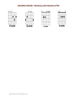 Amazing Grace: Beginning Guitar Sing & Play - Key of D