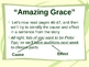 """""""Amazing Grace"""" Cause and Effect - Treasures Reading Series"""