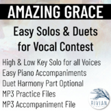 Amazing Grace - Easy Solos & Duets for Vocal Contest (High