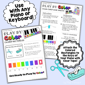 Amazing Grace Easy To Play Color Coded Song Sheet By Miss Vanessa