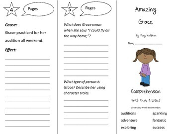 Amazing Grace Trifold - Treasures 3rd Grade Unit 1 Week 2