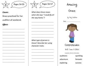 Amazing Grace Trifold - Treasures 3rd Grade Unit 1 Week 2