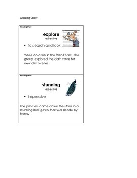 Amazing Grace Vocabulary