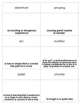 Amazing Grace Vocabulary Bingo