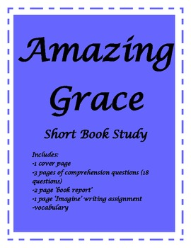 Amazing Grace book bundle (10 pgs)