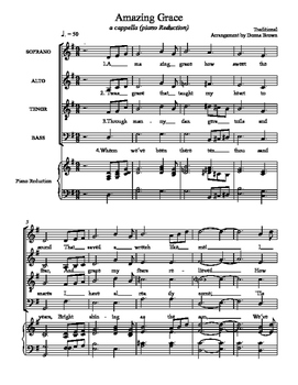 picture about Free Printable Piano Sheet Music for Amazing Grace identified as Unbelievable Grace for SATB a cappella with Piano Loss