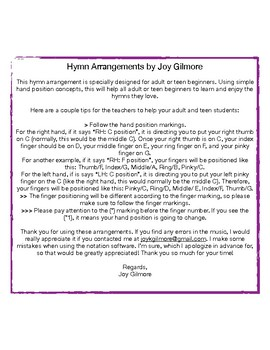 Amazing Grace in F Hymn Arr, adult & teen beginners Single License Full Version