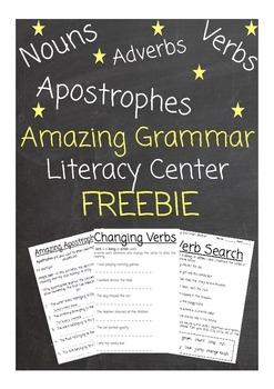 Amazing Grammar Literacy Center Pack!
