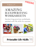 Amazing Handwriting Worksheets FREEBIE