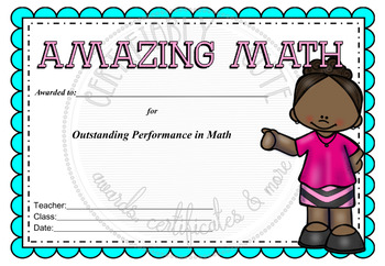 Amazing Math Award